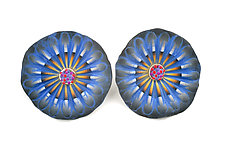 Shell Earring 35 by David Forlano and Steve Ford (Silver & Polymer Earrings)