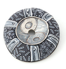 Center Pin 82 by David Forlano and Steve Ford (Silver & Polymer Brooch)