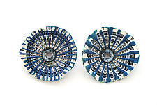 Shell Earrings 218 by David Forlano and Steve Ford (Silver & Polymer Earrings)