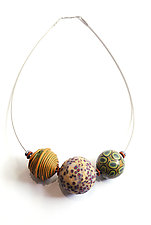 Autumnal Big Bead Necklace by David Forlano and Steve Ford (Polymer Clay Necklace)