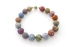 Big Bead Necklace #142 by David Forlano and Steve Ford (Polymer Clay Necklace)