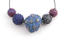 Big Beads on Cable #31 by David Forlano and Steve Ford (Polymer Clay Necklace)