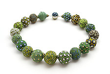 Big Bead Necklace #72 by David Forlano and Steve Ford (Polymer Clay Necklace)
