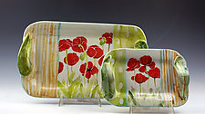 Poppies Tray by Peggy Crago (Ceramic Tray)