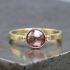 18k Yellow Gold Ring with Rose-Cut Diamond by Sarah Hood (Gold & Stone Ring)