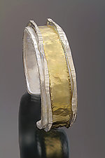 Narrow Cuff II by Sana  Doumet (Gold & Silver Bracelet)