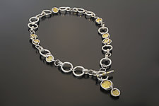 Circles and Rings Necklace by Sana  Doumet (Gold & Silver Necklace)