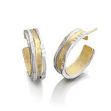 Luna Hoops by Sana  Doumet (Gold & Silver Earrings)