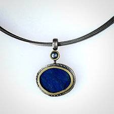Oceania Pendant by Susan Barth (Silver & Stone Necklace)