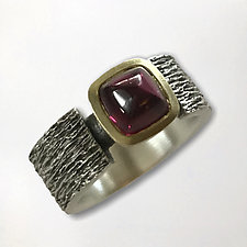 Cushion Shaped Rhodolite Garnet Ring by Susan Barth (Jewelry Rings)