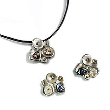 Collaged Soft Geometric Jewelry with Keshi Pearls by Virginia Stevens (Silver & Pearl Jewelry)