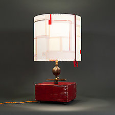 Everso by James Aarons (Mixed-Media Table Lamp)
