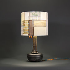 Golden Strip by James Aarons (Mixed-Media Table Lamp)