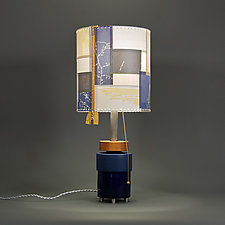 Strange Memories by James Aarons (Mixed-Media Table Lamp)