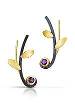 Ear Climber Vine Earrings by Ilene Schwartz (Gold, Silver & Stone Earrings)