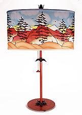 Mountain Oval Shade Lamp by Stuart Loten (Mixed-Media Table Lamp)