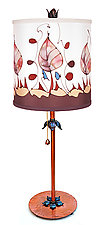 Classic Drum Shade Table Lamp 2 by Stuart Loten (Mixed-Media Table Lamp)