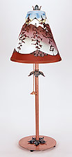 Mountain Conical Shade Lamp by Stuart Loten (Mixed-Media Table Lamp)