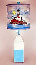 Buoy Drum Shade Table Lamp by Stuart Loten (Mixed-Media Table Lamp)