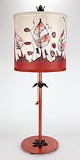 Classic Drum Shade Lamp 2 by Stuart Loten (Mixed-Media Table Lamp)