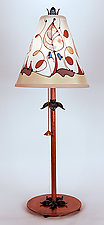 Classic Conical Shade Lamp 4 by Stuart Loten (Mixed-Media Table Lamp)