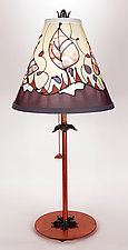 Classic Conical Shade Lamp by Stuart Loten (Mixed-Media Table Lamp)