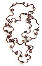 Autumn Vine Necklace by David Forlano and Steve Ford (Polymer Clay Necklace)