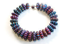 Big Bead Necklace #179 by David Forlano and Steve Ford (Aluminum & Polymer Necklace)