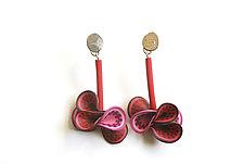 Rose Vine Earrings by David Forlano and Steve Ford (Polymer Earrings)