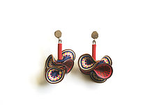 Multi Colored Vine Earrings by David Forlano and Steve Ford (Polymer Earrings)