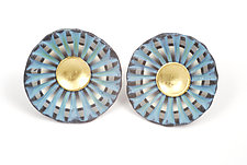 Shell Earrings #68 by David Forlano and Steve Ford (Gold, Silver & Polymer Earrings)