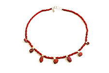 Pebble Necklace #64 by David Forlano and Steve Ford (Beaded Necklaces)