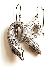 Tube Earrings 19 by David Forlano and Steve Ford (Polymer Earrings)