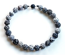Big Bead Necklace #194 by David Forlano and Steve Ford (Aluminum & Polymer Necklace)