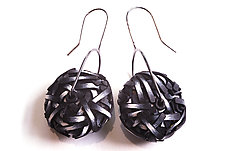 Ball Earrings #26 by David Forlano and Steve Ford (Silver, Aluminum & Polymer Earrings)