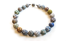 Big Bead Necklace #206 by David Forlano and Steve Ford (Polymer Clay Necklace)