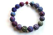 Big Bead Necklace #193 by David Forlano and Steve Ford (Polymer Clay Necklace)