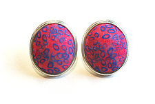 Button Earrings #296 by David Forlano and Steve Ford (Gold, Silver & Polymer Earrings)