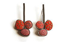 Pebble Earrings #374 by David Forlano and Steve Ford (Silver Earrings)