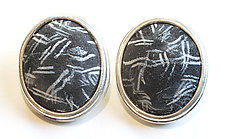 Chalkboard Button Earrings by David Forlano and Steve Ford (Polymer Clay Earrings)