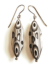 Tube Earrings 20 by David Forlano and Steve Ford (Polymer Earrings)