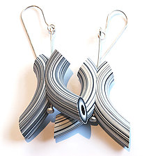 Tube Earrings 25 by David Forlano and Steve Ford (Polymer Earrings)