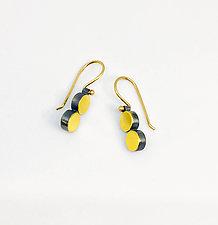 Double Dot Earrings by Elisa Bongfeldt (Gold & Silver Earrings)