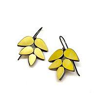 22k Leaf Earrings by Elisa Bongfeldt (Gold Earrings)