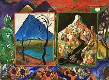 Many Mountains by Kathryn Pistor (Acrylic Painting)