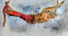 Red Mermaid by Roberta Ann Busard (Giclée Print)