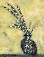 Pussy Willows in a Brown Jug by Roberta Ann Busard (Giclee Print)
