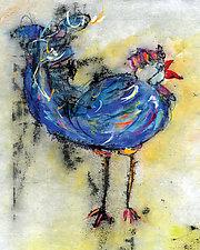 Le Coq Bleu 1 by Roberta Ann Busard (Giclee Print)