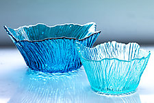 Large Marsh Bowl by Hudson Beach Glass (Art Glass Bowl)