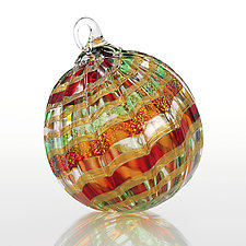 'Tis the Season by Glass Eye Studio (Art Glass Ornament)